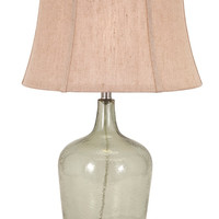 Rustic Decor Ideas - Greem Glass Demijon Table Lamp | Free Shipping