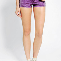 Urban Outfitters - Neon Blonde Acid-Wash Denim Short