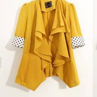 New Yellow Ruffles Modern Chic Blazer
