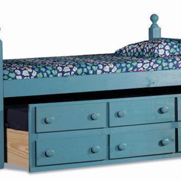Tribeca Twin Size Colored Combo Captains Bed