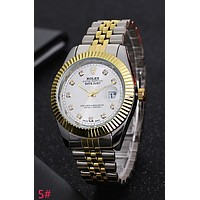 Rolex Trending Ladies Men Stylish Watch Stainless Steel Wrist Watch Silvery Golden Watchband White Dial I-YY-ZT