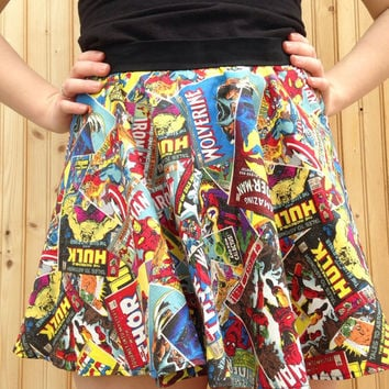 Marvel comics skirt