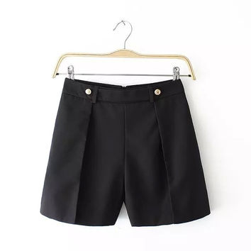 Summer Women's Fashion Stylish Slim Shorts [4918042564]