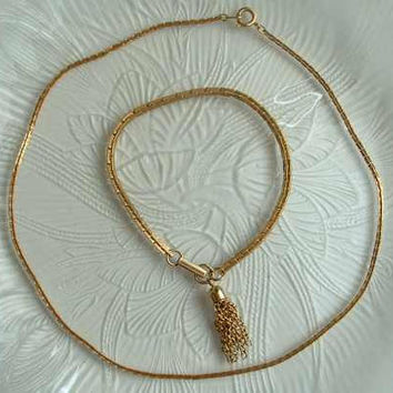 Sarah Coventry BOSTONIAN CLASSIC 1975 Tasseled Bracelet comp necklace