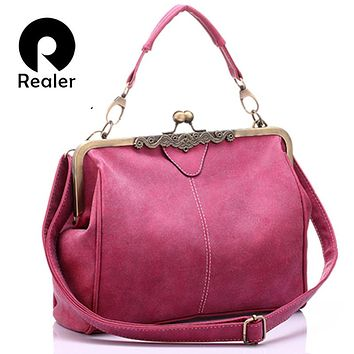 REALER brand women messenger bags small shoulder bag high quality tote bag lady Chain Messenger bags clutch leather handbags