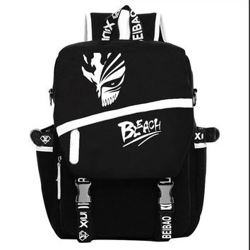 Japanese Anime Bag High Quality 2018 New  BLEACH Printing Backpack Travel Canvas Backpack Women military Rugzak School Laptop Bags AT_59_4