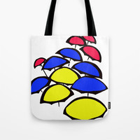 Umbrellas - Mixed Tote Bag by darcyarts