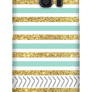 Gold and Tiffany Personalized Galaxy S6 Slim Case