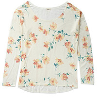 O'Neill Floral-Print Top - White/Multi