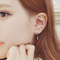 925 Silver Zicron Asymmetric Stud Earrings