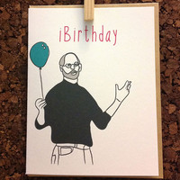 Steve Jobs Birthday Card Funny Boyfriend Girlfriend Wife Husband