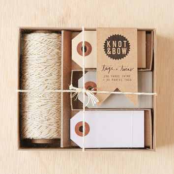 Knot & Bow Tag And Twine Box Set - Urban Outfitters