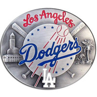 Los Angeles Dodgers MLB Enameled Belt Buckle