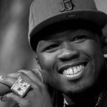 "50 Cent Poster Black and White Poster 24""x36"""