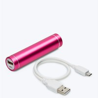 Fuchsia 2600 mAh Smartphone Aluminum Power Bar