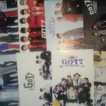 8 pcs set different designs A3 Posters KPOP GOT7 GOT 7 got7 Paintings Wall Pictures Wall Sticker HB082