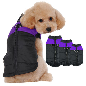 Waterproof Dog Puppy Vest Jacket Warm Winter Dogs Clothes Coat For Small Dogs Chihuahua Teddy Purple Color