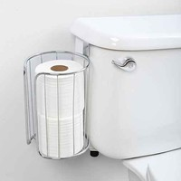 Double-Roll Over-The-Tank Toilet Paper Holder- Silver One