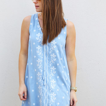 Those Baby Blues Embroidered Dress