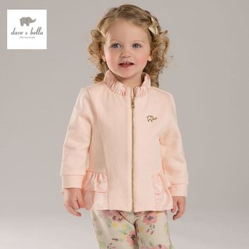 DB3458 davebella spring autumn new baby girls  coat infant clothes toddle coat girls  kids jacket children