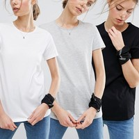 ASOS The Ultimate Crew Neck T-Shirt 3 Pack Save 20% at asos.com