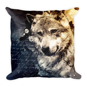 Wolf Decorative Throw Pillow 18x18