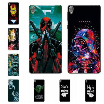 """Deadpool Dead pool Taco Charming  Cases For Sony Xperia E5 F3311 F3313 iron Man Soft Silicone Phone Case Fundas For Sony E 5 Back Cover Capa 5"""" AT_70_6"""