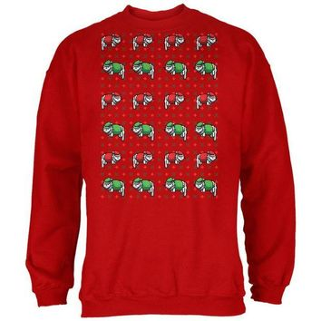 LMFCY8 Meowwy Christmas Ugly XMas Sweater Red Adult Sweatshirt