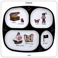 Baby Cie Pirate Round Textured Sectioned Plate for Baby