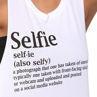 Crop Tank Top with Selfie Definition Screen