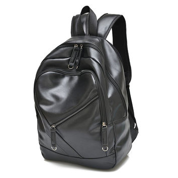 Backpack With Solid Colour and Zippers Design