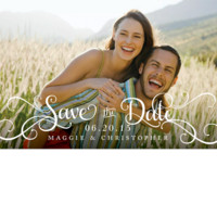 Fancy Type Save the Date