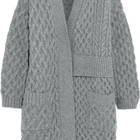 Maison Margiela - Asymmetric cable-knit wool cardigan