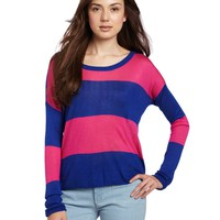 Kensie Women's Drapey Striped Sweater