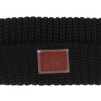 Black Cuffed Beanie - Love Your Melon