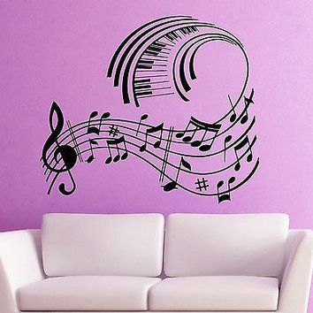 Wall Stickers Vinyl Decal Music Notes Musical Room Decor Unique Gift (ig1783)