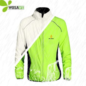 WOSAWE Tour de France Reflective Cycling Jackets Cycle Vest Wind Coat Bicycle MTB Bike Wear Water Repellent Ride Windbreaker Men