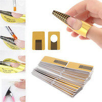 100pcsset Professional Nail Tools Tips Nail Art Guide Form Acrylic Tip Gel Extension Sticker Nail Polish Curl Form