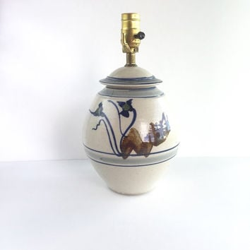 Vintage Studio Pottery Lamp Signed by Artist