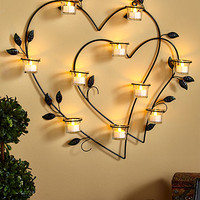 Double Heart Wall Sconce