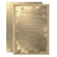 Wedding Invitation | Gold