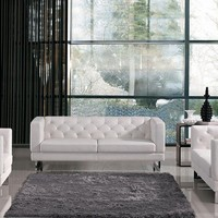 Divani Casa Windsor - Modern Tufted Eco-Leather Sofa Set