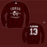 Blackthorn 13 IDRIS University Shadowhunters The Mortal Instruments Unisex Crewneck Sweatshirt Maroon