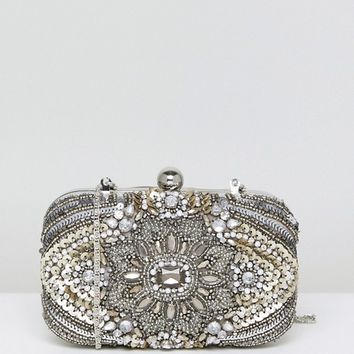 True Decadence All Over Embellished Box Clutch Bag at asos.com