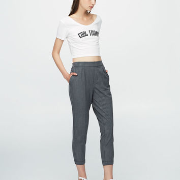 Striped tailored jogging trousers - New - Woman - PULL&BEAR United Kingdom