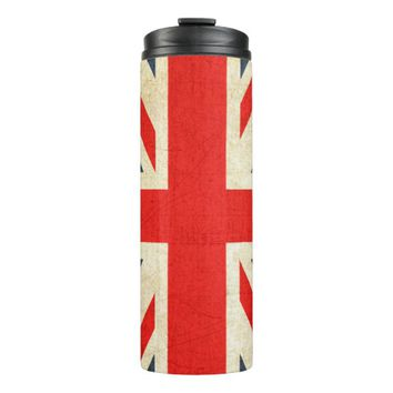 Vintage Union Jack British Flag Thermal Tumbler