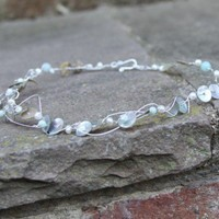 sterling silver, pearls, amazonite amd MOP necklace | perhapsturquoise - Jewelry on ArtFire