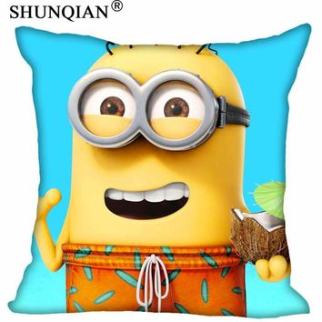 Custom Minions Pillowcase Wedding Decorative Pillow Case Customize Gift For Pillow Cover 35X35cm,40X40cm(One Sides)