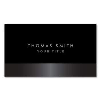 Modern elegant classy dark gray and black profile Double-Sided standard business cards (Pack of 100)