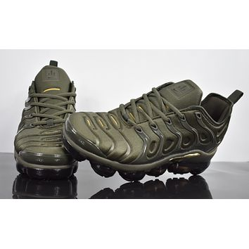 "2018 Nike Air Max Plus TN VM ""Dark Green"" Vapormax Vapor Max Woman Fashion Running Sneakers Sport Shoes"